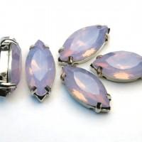 Navette 19x9mm - Violet Opal sa postoljem