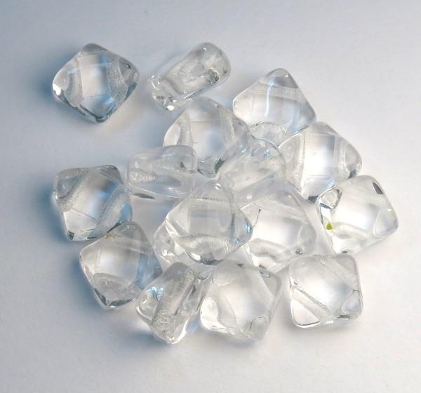 Staklene perle sa dve nizne rupe