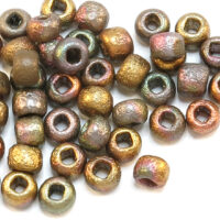 Czech Round 6/0 Etched Seead Beads