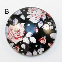Cvetni motiv - (B) crna boja