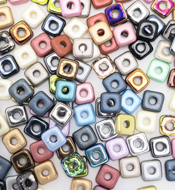 MIX Quad-Bead 4mm - Color MIX