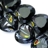 Crystal Millefiori Srce - Black