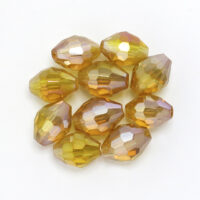 Oval 8x6mm Goldenrod Rbw Plated